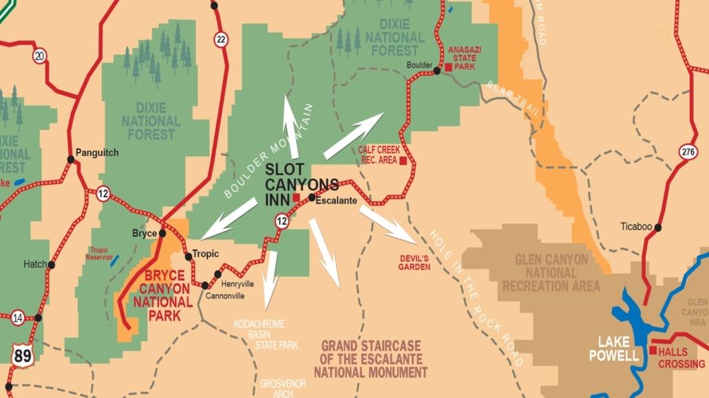 Escalante Utah Map